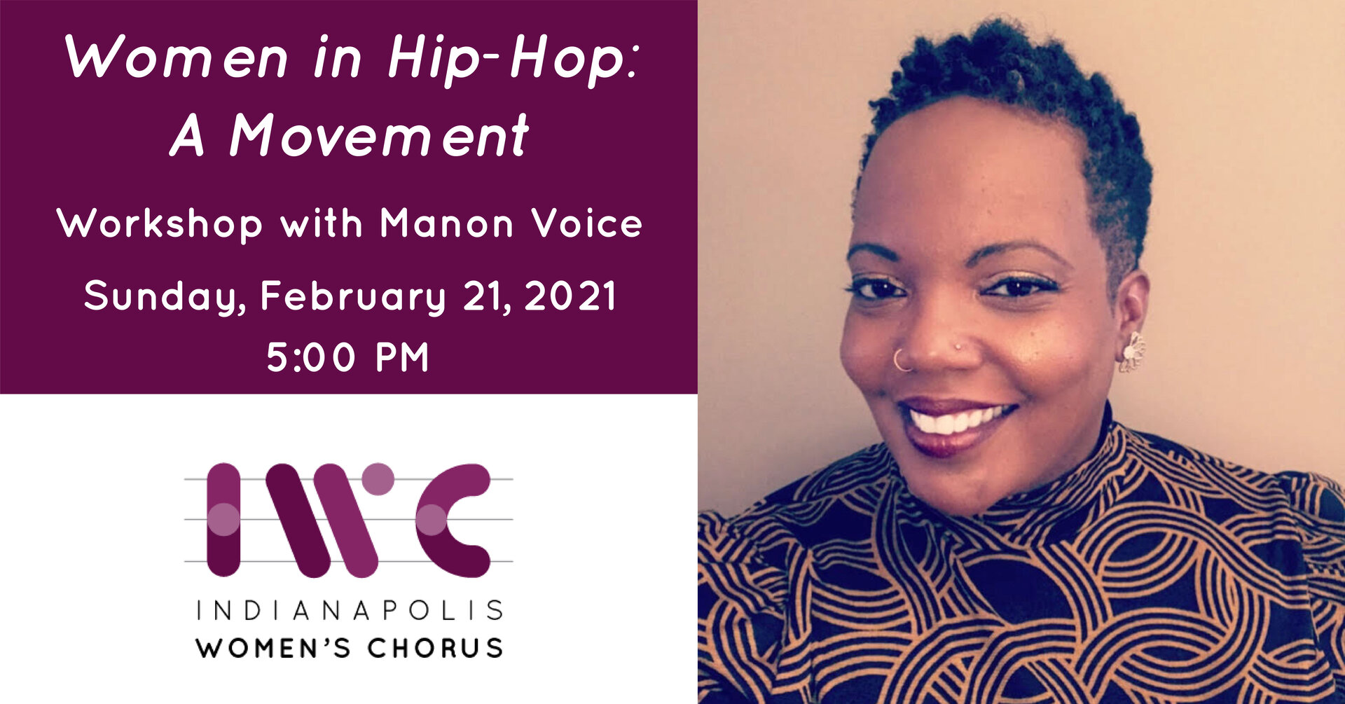 Workshop with Manon Voice: Women in Hip-Hop: A Movement